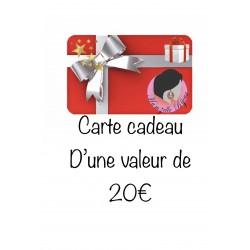 CARTE CADEAU / BON D'ACHAT